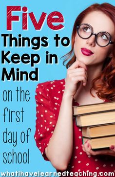 Is your first day of school drawing near? Here are five things to keep in mind as you plan your first day. Whether it's your first first day or your 20th first day, these tips will help make it go smoothly.