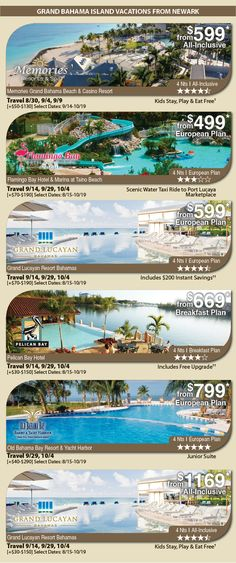 Grand Bahama Island Vacation Specials with Air from New York Newark