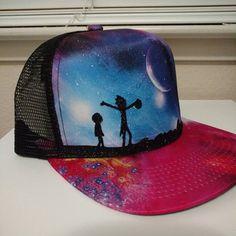 Rick and Morty Galaxy Meshback Flatbill Trucker Hat by WonderForever on Etsy https://www.etsy.com/listing/486034247/rick-and-morty-galaxy-meshback-flatbill