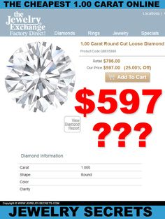 ► ► See the CHEAPEST 1.00 Carat Diamond ONLINE!