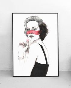 Plakat Kobieta II 50x70 cm, Pako Studio
