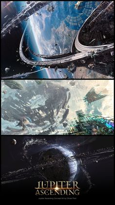 Check out new Jupiter Ascending concept art by Olivier Pron