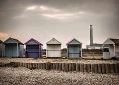 Beach Huts and Powerstation | Fawley power station photograp… | Flickr