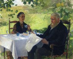 Anna Ancher (Danish artist, 1859–1935) Lunch in the Garden