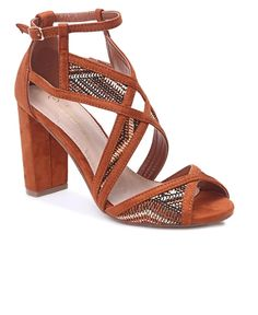Block Heels - Orange The Vamps, Block Heels, High Heels, Pairs, Orange, Fashion, Moda, Fashion Styles, High Heeled Footwear