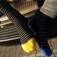 I think I have an obsession with socks. Men's Socks, Cool Socks, Fashion Socks, Mens Fashion, Socks World, Patterned Socks, Colorful Socks, Happy Socks, Designer Socks