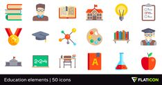 50 free vector icons of Education elements designed by Freepik