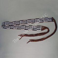 Wampum Belt - Black & White Glass Trade Beads