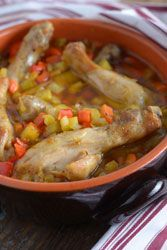Saut� de poulet fa�on paysanne