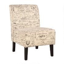 Beige Script Upholstered Accent Chair  http://www.christmastreeshops.com/category/furniture/living-room.do?ab=second:category:furniture:living-room