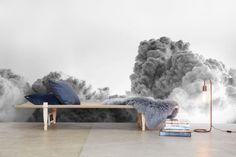 Farver og former i Poul Henningsens hus Grey Stuff, Grey Skies, 2nd Floor, Settee, Decorating Blogs, Wall Design, Home Interior Design, Bean Bag Chair, Villa