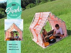 How to: Outdoor Play House Tent Tutorial using fabric and pvc Build A Playhouse, Playhouse Outdoor, Outdoor Play, Outdoor Living, Pvc Projects, Sewing Projects, Sewing Ideas, Fabric Storage, Outdoor Fabric