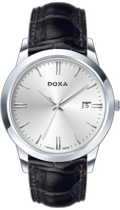 Doxa 106.10.021.01 Watches, Silver, Leather, Accessories, Money, Clocks, Clock, Ornament