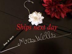 RUSH order Wedding hanger, custom wire hanger, bridal hanger, bride gift, bridesmaids gift, custom made hanger