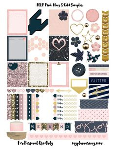 Free Pink, Navy, & Gold Sampler - My Planner Envy