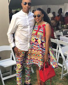Image may contain: 6 people, sunglasses African Print Dresses, African Print Fashion, Africa Fashion, African Fashion Dresses, African Dress, Couples African Outfits, African Clothing For Men, Couple Outfits, African Traditional Wedding Dress