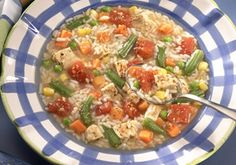 Chicken Rice Vegetable Soup -- a perfect Mrs. Dash recipe - mrsdash.com #saltsubstitute #nosalt #lowfat