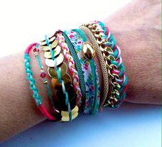 TALINA  cuff bresilian bracelet friendship by LaMaisonPauline, €33.00