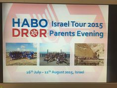 This picture does exactly what it says on the tin! With a grand tour spanning North Manchester, South Manchester and Leeds in 6 days, our Israel Tour Co-Ordinator reached all parents of Habo Tour Participants this Summer to tell them everything there is to know about the best Israel Tour Programme out there. #choosehabotour