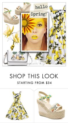 """Yellow"" by mujkic-merima ❤ liked on Polyvore featuring vintage and rosegal"