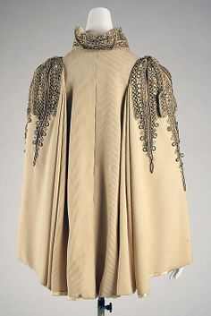 Cape - c1890...gagagorgeous! probably designed to wear to a popular opera in san francisco