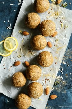 These Aloha Protein Balls are packed with texture, bright flavor, and protein. They& great for breakfast or an after-workout snack. Aloha Protein, Coconut Protein, Protein Cake, Protein Muffins, Protein Snacks, Healthy Snacks, Protein Cookies, High Protein, Healthy Breakfasts