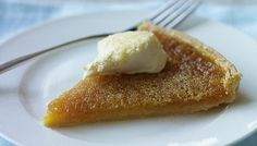 Treacle tart. Old traditional English dessert. I used to have it all the time growing up. One of my favorites.
