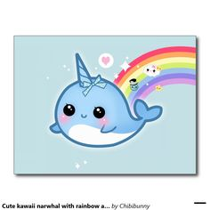Narwhal Coloring Page from Hipster Coloring Book