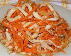 Морковный салат с кальмарами