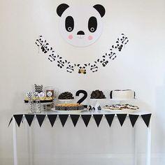 WEBSTA @ festainfantil - Panda  simples e maravilhoso por @littlepaperplateevents