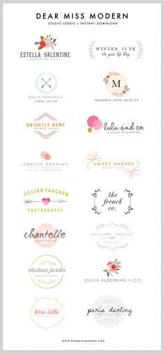 Dear Miss Modern Instant Logos