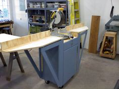 Miter saw stand with folding wings - by TLAR_Engineering @ LumberJocks.com ~ woodworking community