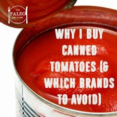 I buy almost all of my produce fresh, but one of the few things I buy canned (shock horror!) is tomatoes. Before I go any further – BPA Let's talk about BPA (Bisphenol-A). One of the main rea…