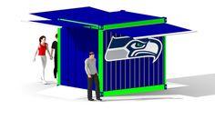 Hawks BBQ Box for Nissan Pavilion Foodservice @ Century Link Field designed by LU Schildmeyer