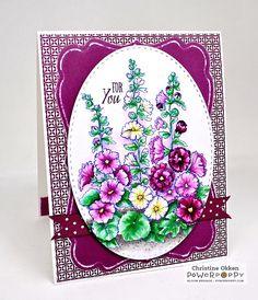 ChristineCreations: Indian Spring Hollyhocks