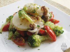 Seppie e broccoli con salsa di acciughe