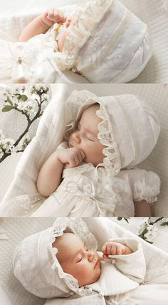 christening baby girl bonnet-baptism bonnet-cotton baby