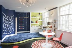 Colorful playroom for kids