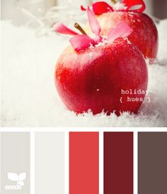 Pretty holiday color palate.