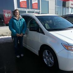 Congratulations Kim & Robert & family! Enjoy your 2013 Honda Odyssey Touring! Just think of those summer roads!