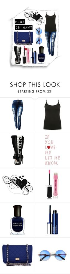 """Plus is HAWT"" by queenmadhatteres ❤ liked on Polyvore featuring M&Co, Dsquared2, Marc Jacobs, Deborah Lippmann, Clinique and Chanel"