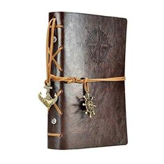 Travel Vintage Journal Pu Leather Cover Blank Notebook