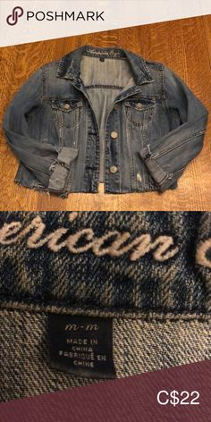 Shop Women's size M Jean Jackets at a discounted price at Poshmark. Sperrys Men, Plus Size Men, American Eagle Men, Fashion Outfits, Fashion Tips, Fashion Trends, Under Armour Men, Jean Jackets, Adidas Men