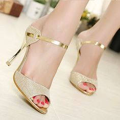 >> Click to Buy << High Heels Sandals Ankle-Wrap 2016 Women Sandals Beautiful Ladies Silver Gold Sandals Summer Shoes #Affiliate