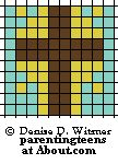 seed bead cross pattern | Beaded Safety Pin Patterns for an Easter Teen Craft