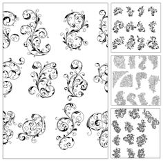 Ornate pattern set vector | CGIspread | Free download