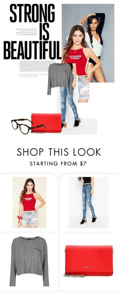 """""""Believe In You"""" by delurabowers ❤ liked on Polyvore featuring Forever 21, Cheap Monday, Topshop, Givenchy and See Concept"""