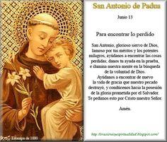 Oracion a San Benito | ORACIONES Y ESPIRITUALIDAD: Oracion a SAN ANTONIO DE PADUA...