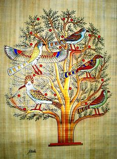 The beautiful birds represent the various stages of human lives as believed by the Egyptians.