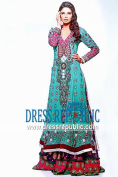 Aqua Bally, Product code: DR8743, by www.dressrepublic.com - Keywords: Ahmad Bilal Bridal Collection, Pakistani Wedding Dresses 2012, 2013 Collection Online Shop